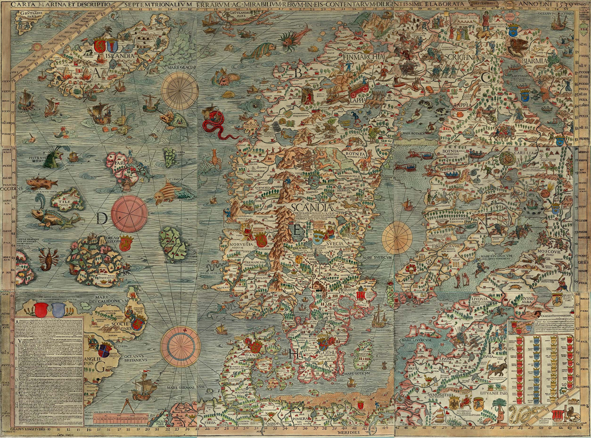 illuminated map of early me val scandinavia author hugh b long